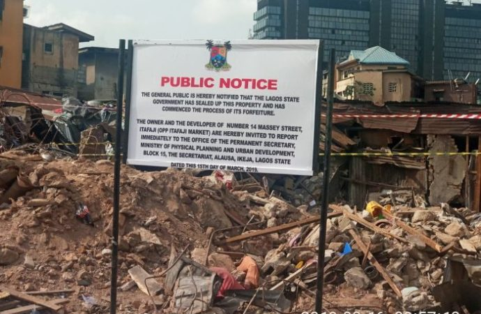 Lagos State Govt Takes Over The Land Of Collapsed School, Begins Massive Demolition In Lagos