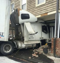 Tragedy averted as truck rammed into shopping mall