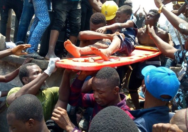 SO SAD: Woman Commits Suicide After Losing Two Children In The Lagos Building Collapse