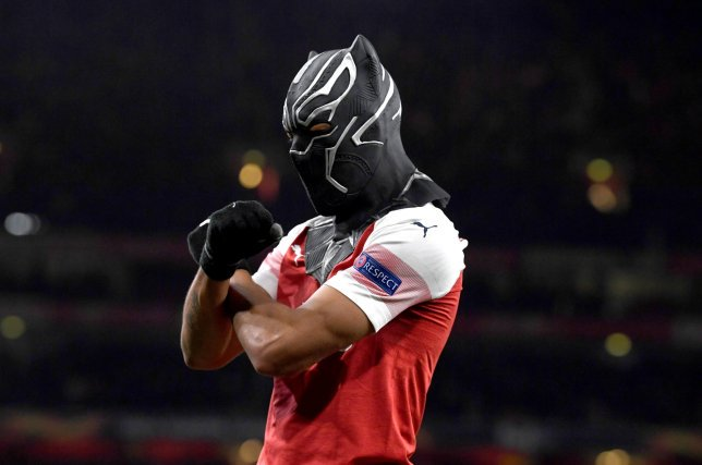 Arsenal Striker Reveals Why He Went BLACK PANTHER After Goal Against Rennes (PHOTO)