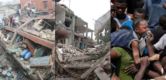 SAD!!! See The Before And After Photos Of Lagos School Building That Collapsed