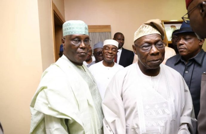 Atiku meets Obasanjo for the first time since losing to Buhari