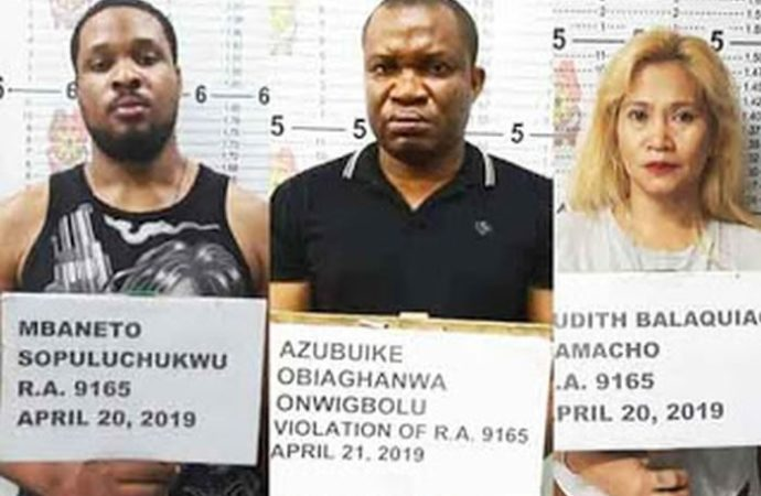 2 Nigerians In Philippines Arrested With N 125 million Worth Of Drugs