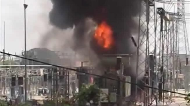 Fire outbreak at power transmission station in Abuja