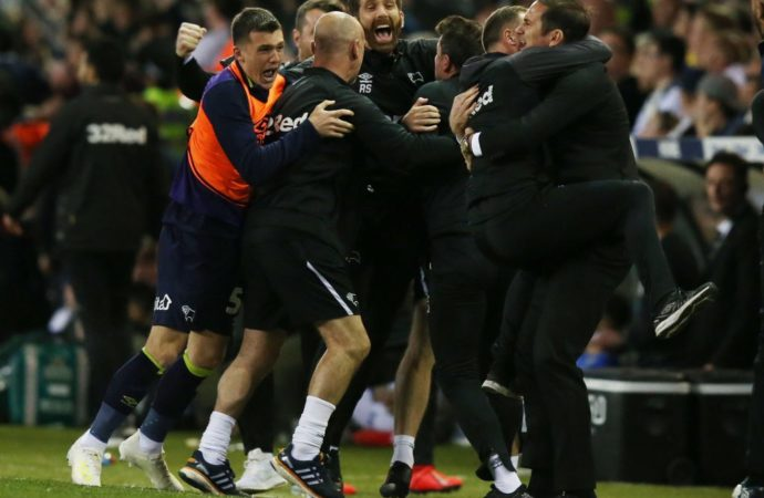 Championship play-off final: Derby County to face Aston Villa for Premier League spot