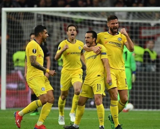 Europa League: Chelsea set new record after 1-1 draw with Frankfurt