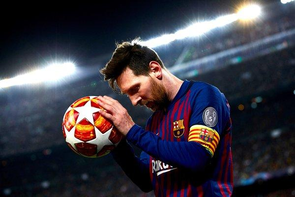 Lionel Messi put Barcelona to within touching distance of the Champions League