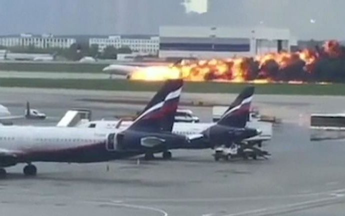 13 killed as Aeroflot jet catches fire on landing at Moscow airport