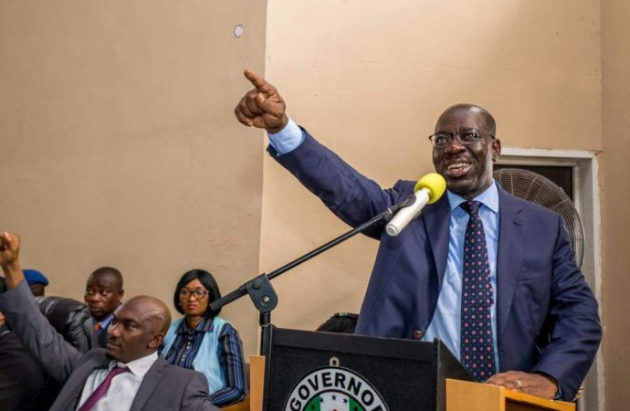 Erhahon to Obaseki: It's too early to wrestle with Oshiomhole