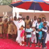 Benin monarch blesses Children at new year party