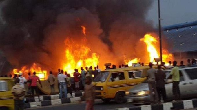 Abule Egba on fire over pipeline explosion