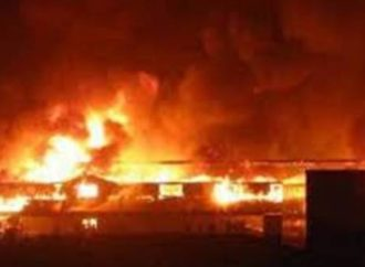 Fire razes Army Barracks in Delta