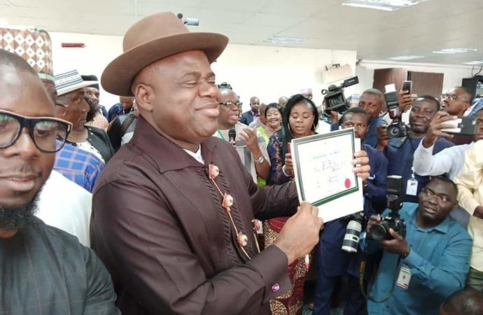 Diri receives Certificate of return as Bayelsa gov-elect