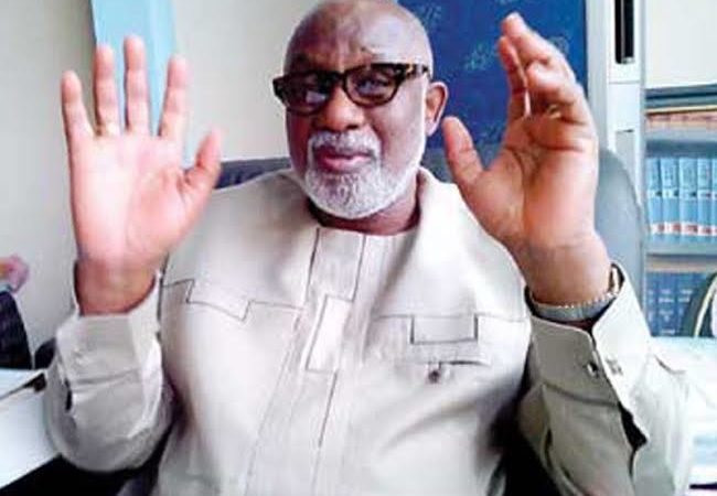 Covid-19: Don't come to Gov's office, Akeredolu tells Ondo residents