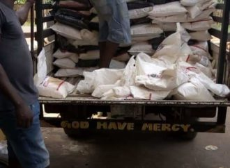 Protest as Edo Council boss distributes relief materials with 'cash transfer list'