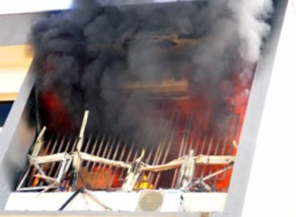 Fire guts INEC headquarters in Abuja