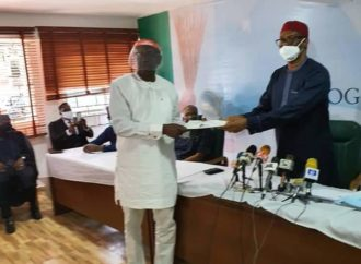 Edo 2020: Ize-Iyamu picks APC nomination form, vows not to disappoint electorate