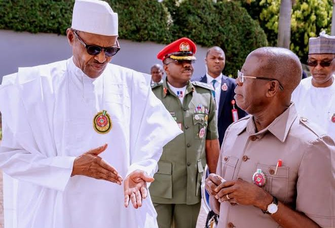 Buhari wishes Oshiomhole more years of service at 69
