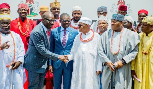 We're brothers despite my friendship with Oshiomhole, monarch confesses to Obaseki