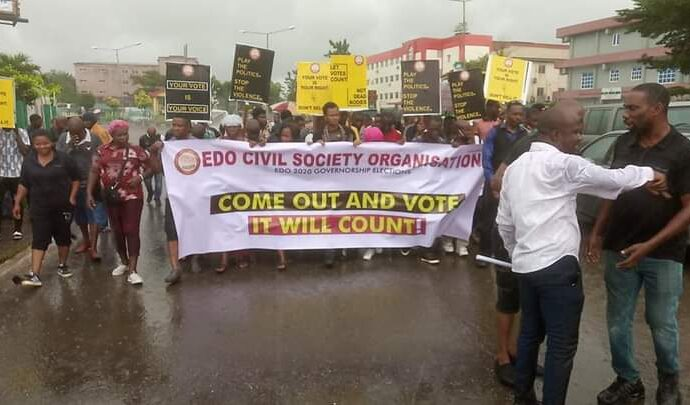CSOs take Edo voters to task on violent-free poll, apathy, others