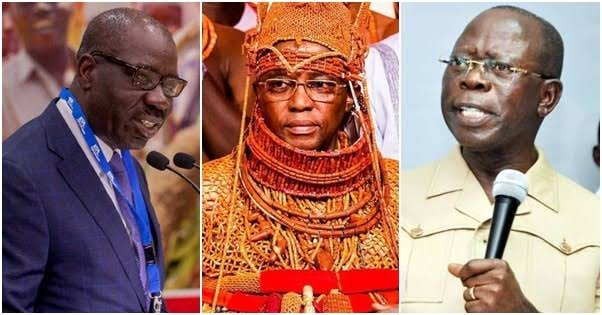 Benin monarch taunts APC for disqualifying Obaseki — after fielding him