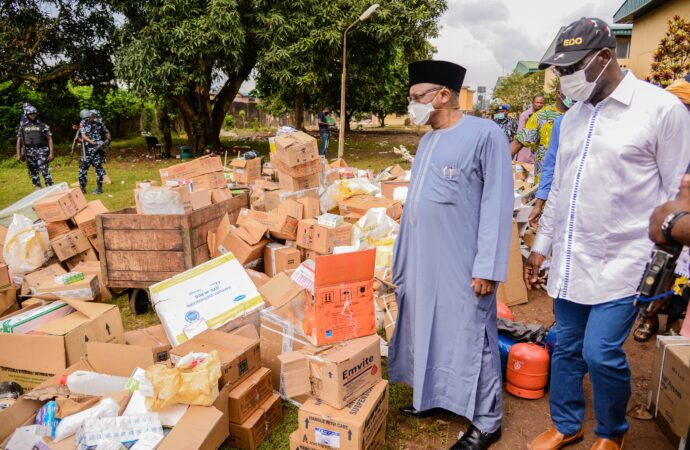 Police arrest 50 suspects for looting warehouses in Benin                        …Obaseki, minister raise concern over health risk of looted items