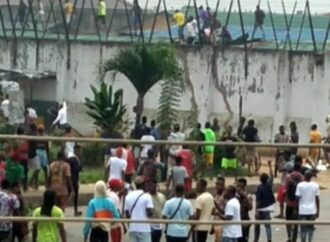 [PHOTOS] Armed squad gun down two protesters in Edo prisons' break