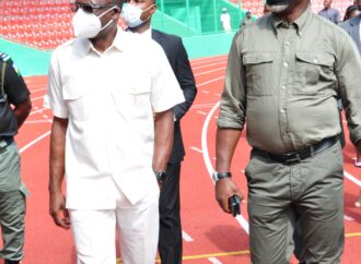 Shaibu, Pinnick inspect stadium ahead of AFCON qualifier game