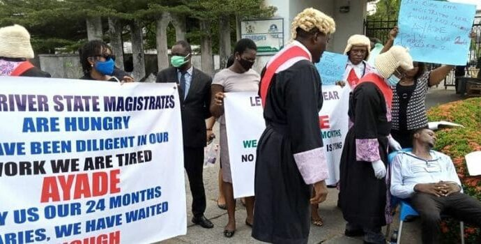 Outrage as magistrate slumps while protesting unpaid salaries