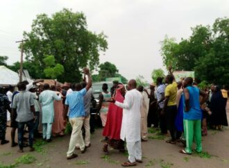 Tragedy averted as protesting workers block Nasarawa deputy gov's convoy