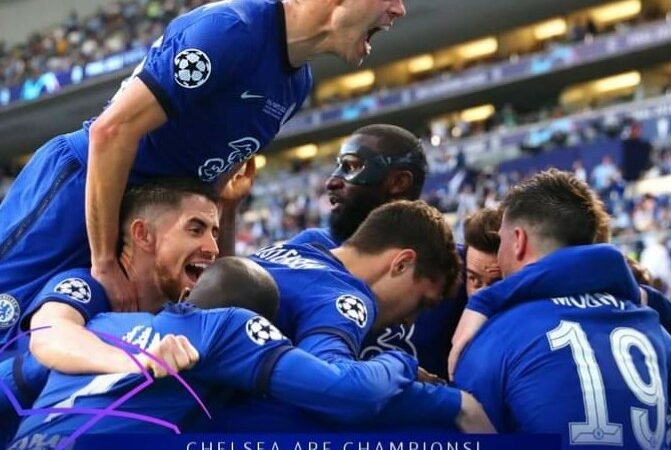 Chelsea lift Champions League trophy after beating Man City